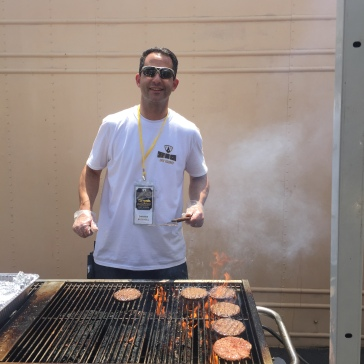 Darren on the grill! Thanks to him and his crew for feeding all of us.